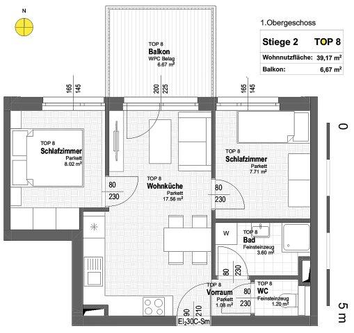Foto von NEU! ++ ERSTBEZUG ++ NÄHE U1 ++ 41 Exklusive 2-4 Zimmer Eigentums-Wohnungen mit Freiflächen  ++ 17 PKW STELLPLÄTZE ++ RUHIGE LAGE ++ NEUBAU 2018/2019 ++ Beziehbar ab Herbst 2019 ++ 1210 Wien ++ TOP 2/8