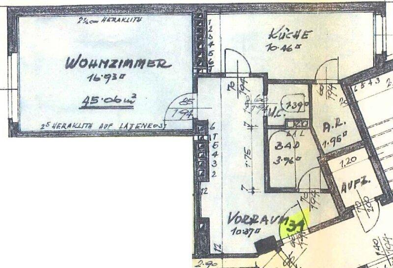 8. Bezirk Nähe U6: NEUBAU 7. Liftstock, WESTFERNBLICK, Küche mit Essplatz /  / 1080Wien / Bild 10