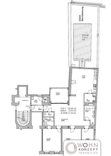 Großzügiger stilvoll renovierter 156m² Altbau mit großen Freiflächen in 1180 Wien /  / 1180Wien / Bild 3