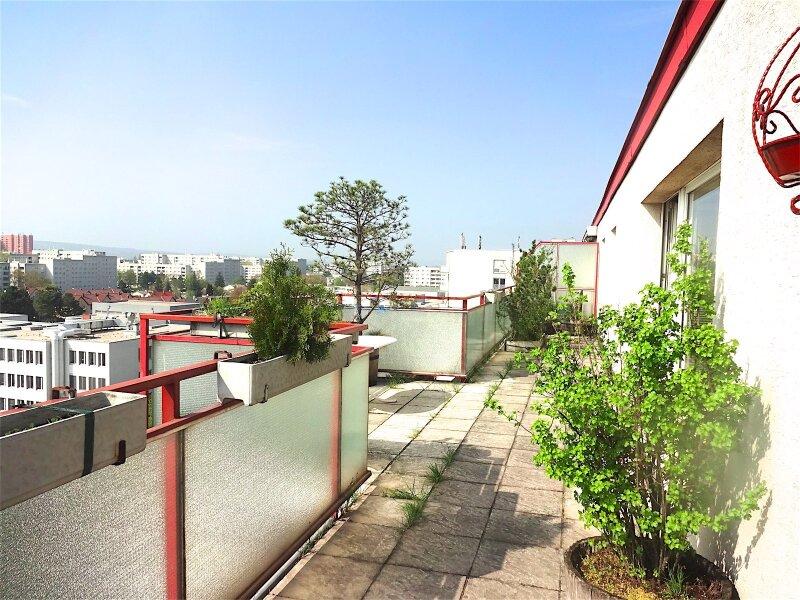 Weitblick: Terrassentraum, 103 m2 Wohnfläche + 74 m2 Terrasse, sonnig, ruhig, U1-Aderklaaerstraße! /  / 1210Wien / Bild 0