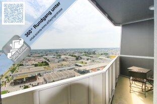 Leopold-Tower: Stylische 2 Zimmer Wohnung mit Loggia und Blick über Wien