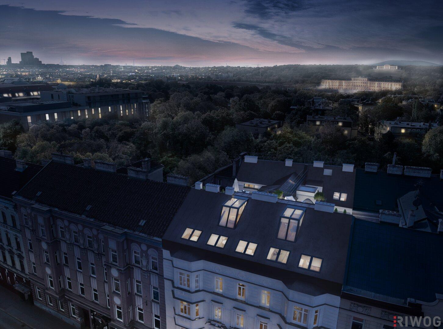 Dachterrassenwohnungen in Alt-Penzing mit Prachtblick auf die Gloriette | Linzerstrasse47 (Projektansicht)