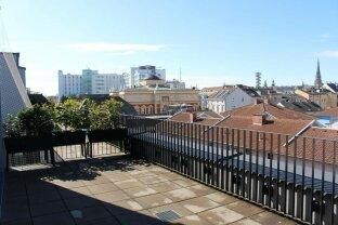 Terrassenwohnung im Zentrum - Weitblick in Linz