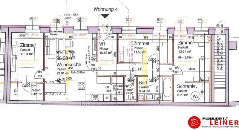 2320 Rauchenwarth - Nähe Flughafen: ERSTBEZUG - Top ausgestattete 4 Zimmer Mietwohnung in herrlich ruhiger Innenhoflage! Objekt_9411 Bild_274