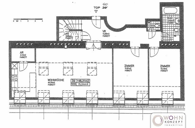 Naschmarkt: 146m² DG-Wohnung + Terrasse - 1060 Wien /  / 1060Wien / Bild 2