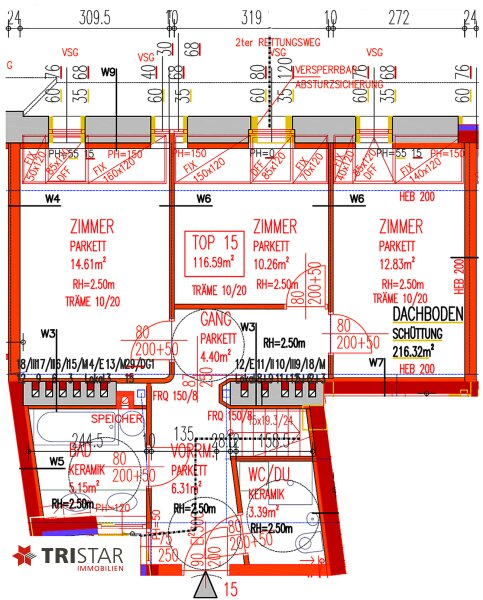 NEU! ++ 1070 Wien ++ 3 Exklusive Dachgeschosswohnungen mit Panoramablick (Top 15) ++ /  / 1070Wien / Bild 6