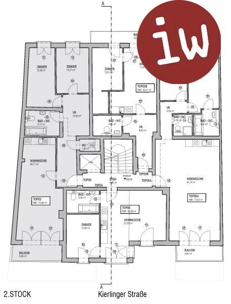 3-Zimmer Eigentumswohnung mit Balkon, Top Zentrumslage Klosterneuburg Objekt_561 Bild_218