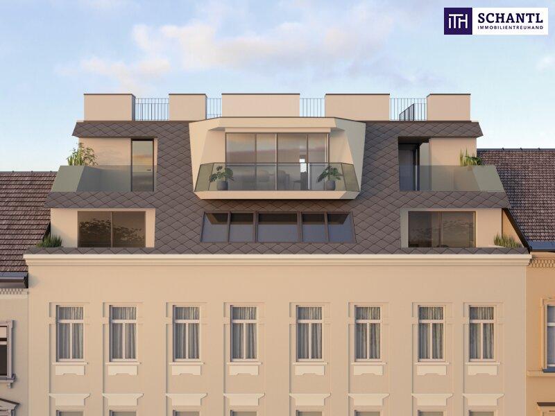 IHR TRAUM im Dachgeschoss! Erstbezug mit vier Zimmer auf zwei Etagen, plus über 64m² Panorama-Dachterrasse! /  / 1170Wien / Bild 2