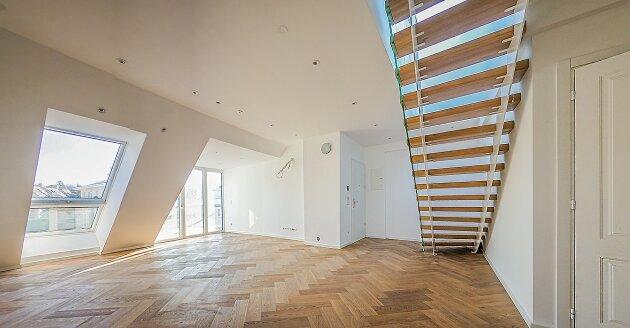 Foto von NEU! ++ 3 Zimmer-Dachgeschosswohnung in 1130 Wien, Neubau, Balkon, Dachterrasse mit Wienblick  (Top 8) ++
