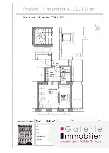 Helle 2-Zimmer-Wohnung in generalsaniertem Gründerzeithaus am Kinzerplatz 4 Objekt_32731