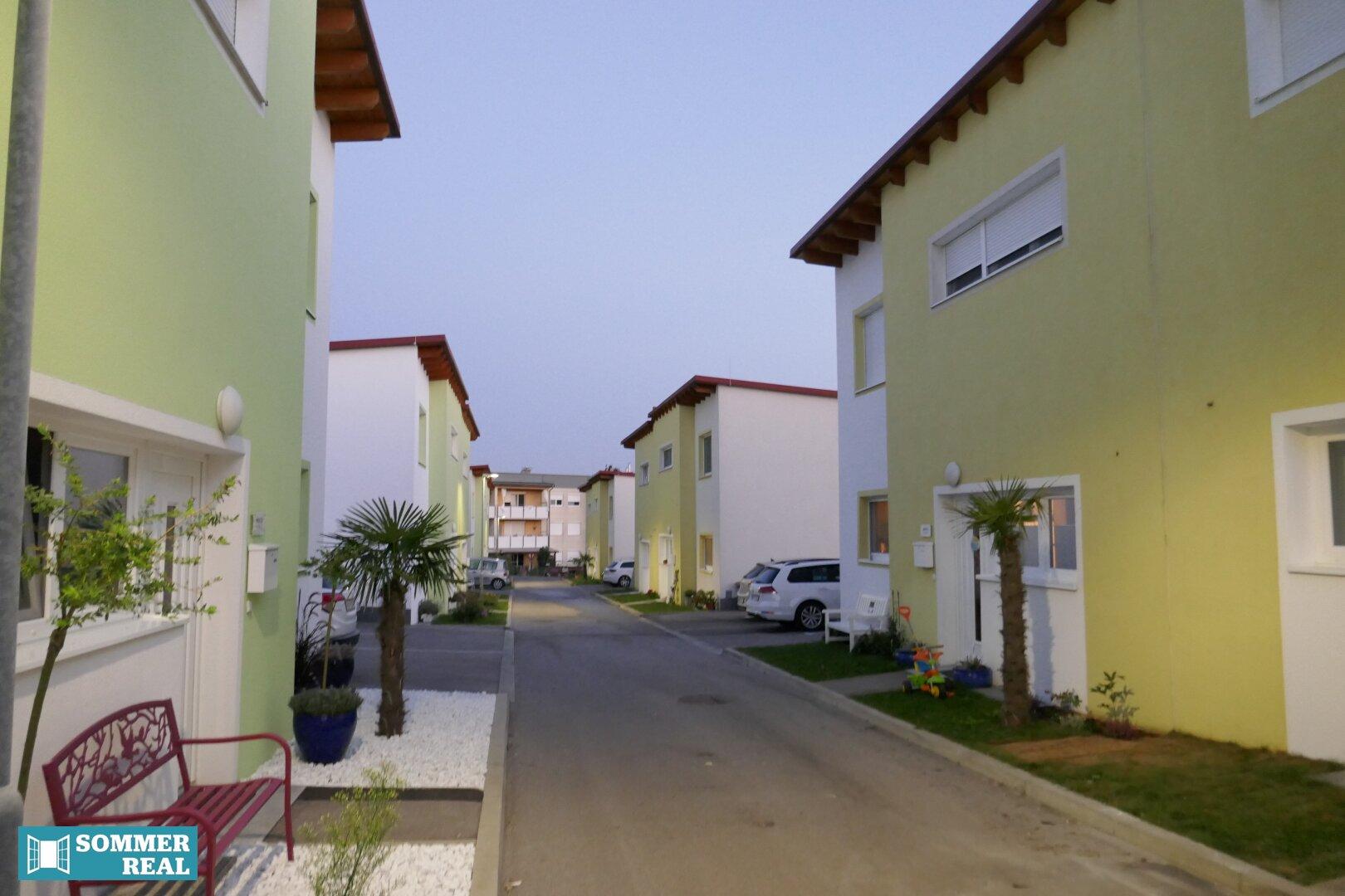 Blick in die Wohnsiedlung