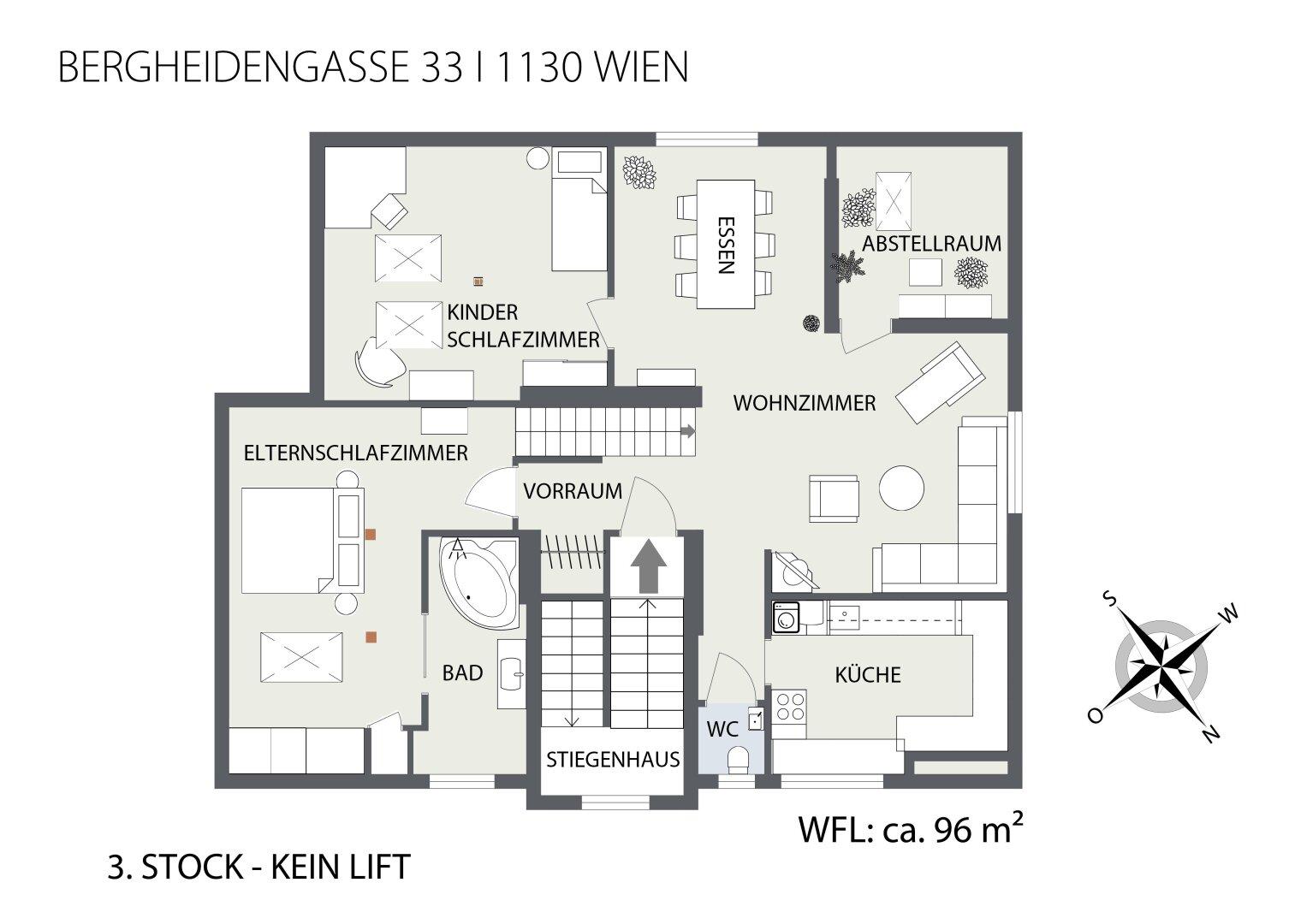 2D Grundriss 3. Stock