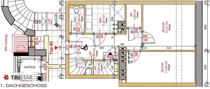 NEU! ++ ERSTBEZUG !!! Dachterrassenwohnung mit 360 Grad Wienblick !!! Terrasse + Dachterrasse !!! 4 Auto Stellplätze (Top 60) ++ /  / 1100Wien / Bild 7