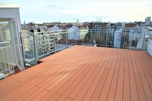 PENTHOUSE im 7. Bezirk / 160 m² Wohnfläche und 4 Terrassen mit insgesamt 101 m² / 360° Panorama-Blick über Wien