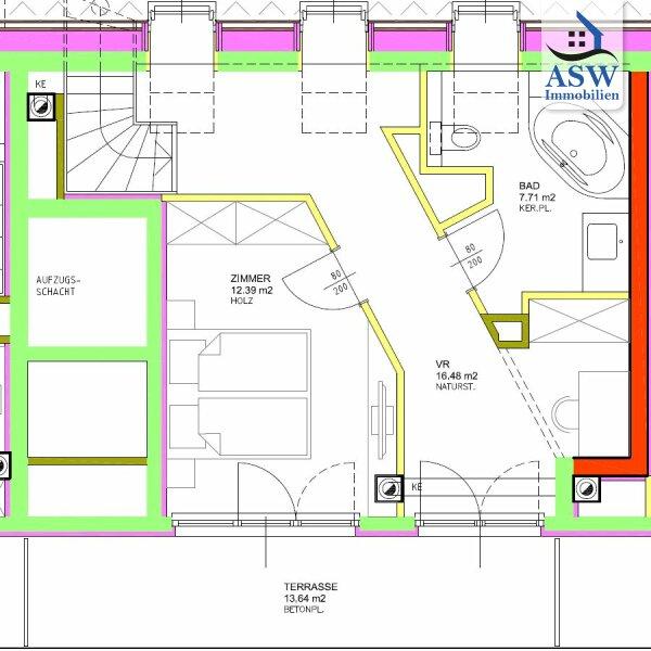 Wunderschöne 2-Zimmer Dachgeschoßwohnung mit 2 Terrassen in U-Bahn-Nähe /  / 1160Wien / Bild 2