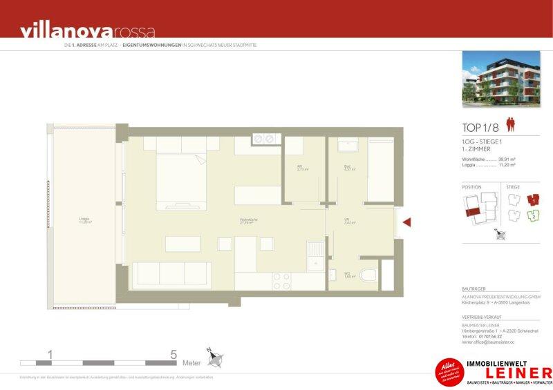 40 m² Mietwohnung in Schwechat - Neubau /  / 2320Schwechat / Bild 5