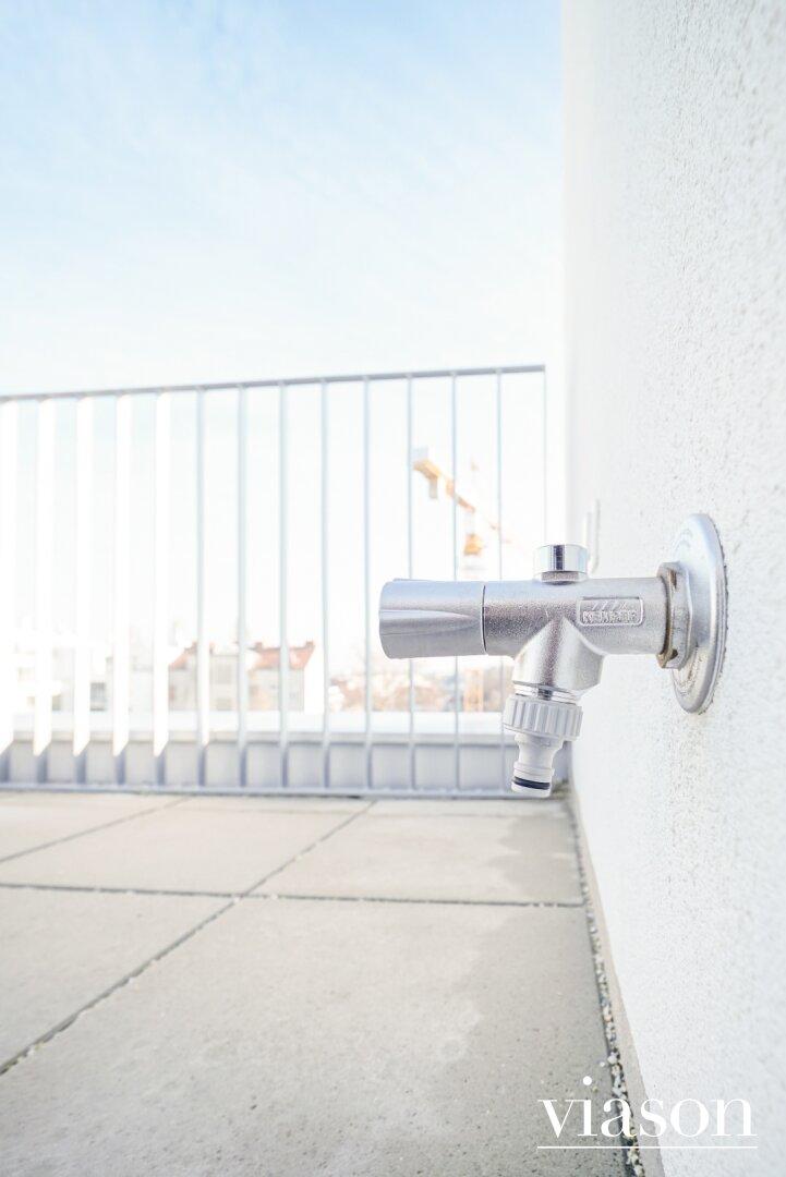 Wasserentnahmestelle Terrasse