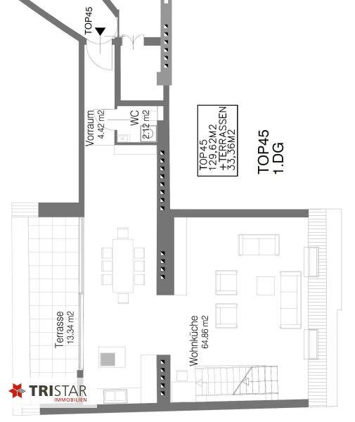 Hochwertig errichtete 3 Zimmer DG-Maisonette mit Wohnküche, Abstellraum, Wintergarten und Terrasse mit fantastischem Wienblick! /  / 1100Wien / Bild 10