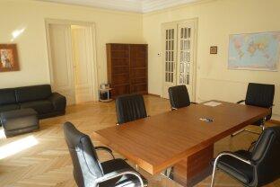 1030, möbliertes Büro mit Balkon in Bürogemeinschaft in repräsentativem Altbau