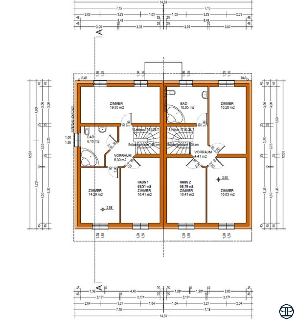 Obergeschossplan