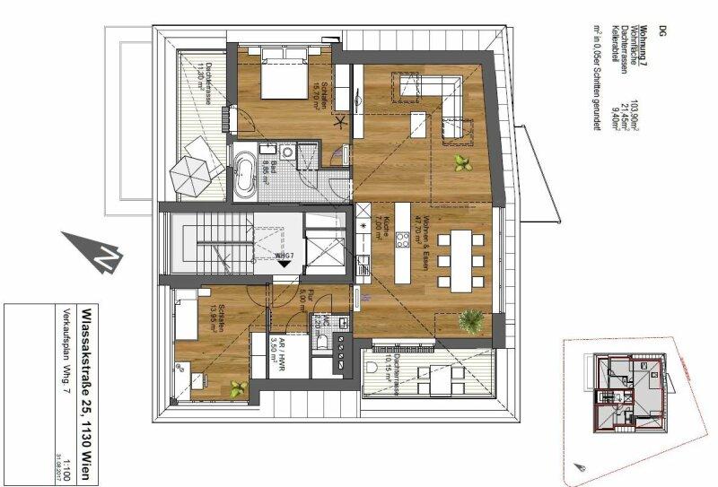 PENTHOUSE mit zwei Dachterrassen und grandiosem Panoramablick  Bj. 2017 /  / 1130Wien / Bild 3