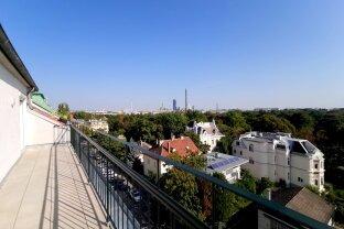 *Terrassentraum in der Böcklinstraße*  Studenten-WG-tauglich! **Blick in den Prater**