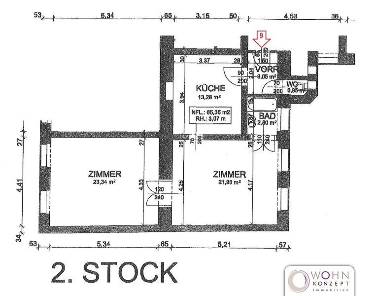 Unbefristeter 65m² Altbau mit Einbauküche - 1070 Wien /  / 1070Wien / Bild 8