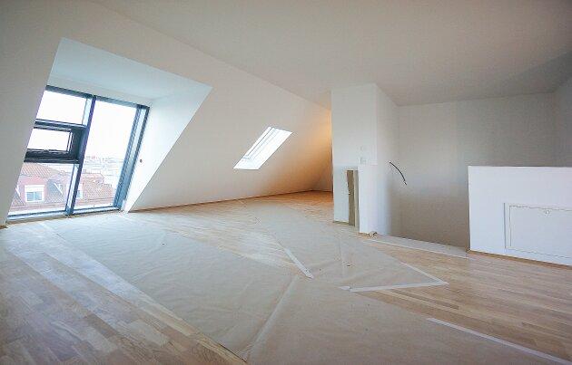 Foto von NEU! ++ ERSTBEZUG:  5 Dachgeschosswohnungen (3-5 Zimmer), Balkon/Loggia/Terrassen/Dachterrassen mit 360 Grad Wienblick, 4 Auto Stellplätze (Top 61) ++