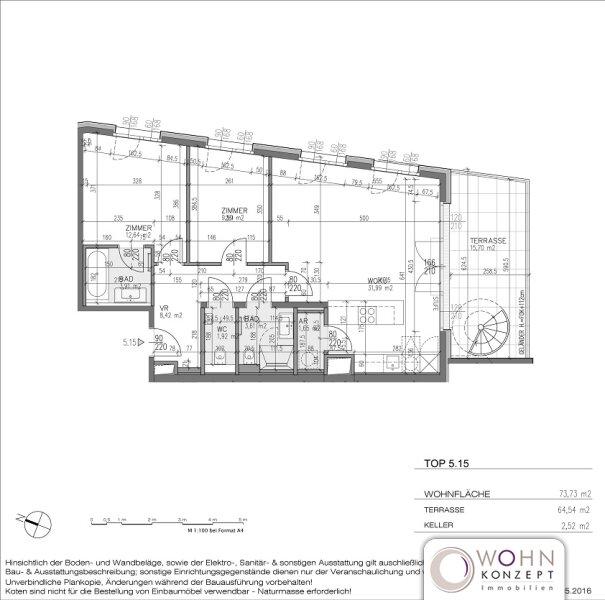 Goldegg Gardens: exklusiver 74m² Neubau + 64m² Terrassen - 1040 Wien /  / 1040Wien / Bild 2