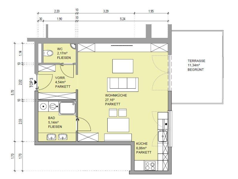 Moderner Wohntraum für Singles mit Terrasse! /  / 1180Wien / Bild 6