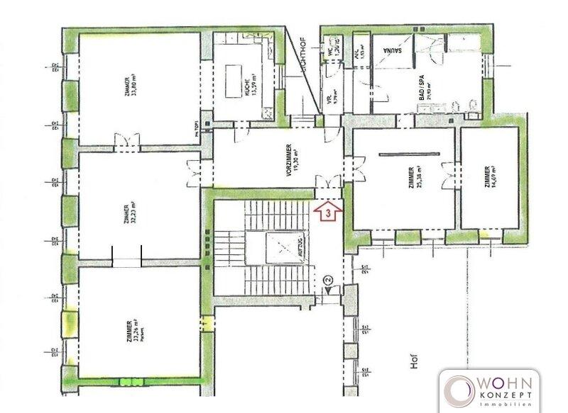 Toprenovierter 202m² Stilaltbau mit Einbauküche - 1010  Wien /  / 1010Wien / Bild 7