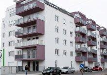 Ruhig gelegene 2-Zimmer-Neubauwohnung inkl Balkon Außenfläche, Komplettküche und Kellerabteil Nähe Bahnhof Floridsdorf - nur mit Parkplatz 82 Euro zu mieten, 49