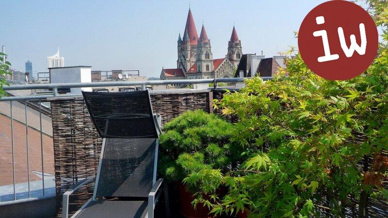 Top-gepflegte Dachgeschosswohnung mit herrlicher Terrasse Nähe UNO- City! Objekt_592