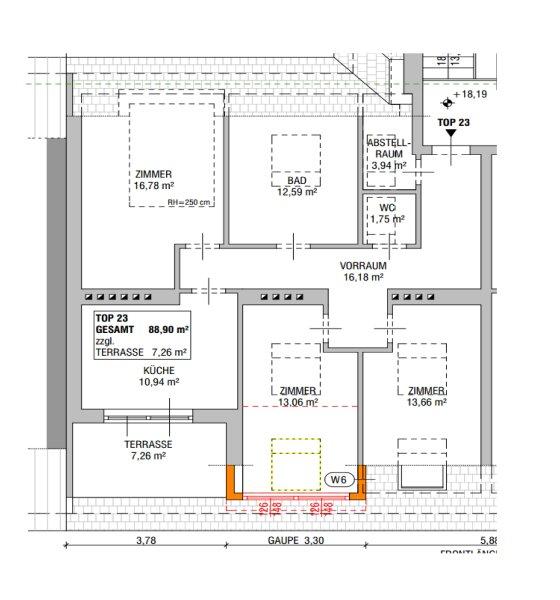 ++NEU** Kernsanierter DG-ERSTBEZUG! 3-Zimmer+getrennte Küche! 7m² uneinsehbare Terrasse! **VIDEOBESICHTIGUNG** PROVISIONSRABATT! /  / 1050Wien / Bild 18