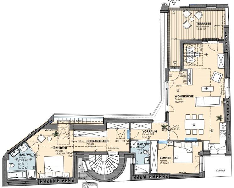 ++NEU++ DG-Erstbezug, wunderschönes Haus!, große Wohnküche! /  / 1020Wien / Bild 17