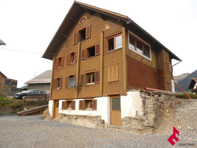 altes Walser-Holzhaus zum Selbstausbau