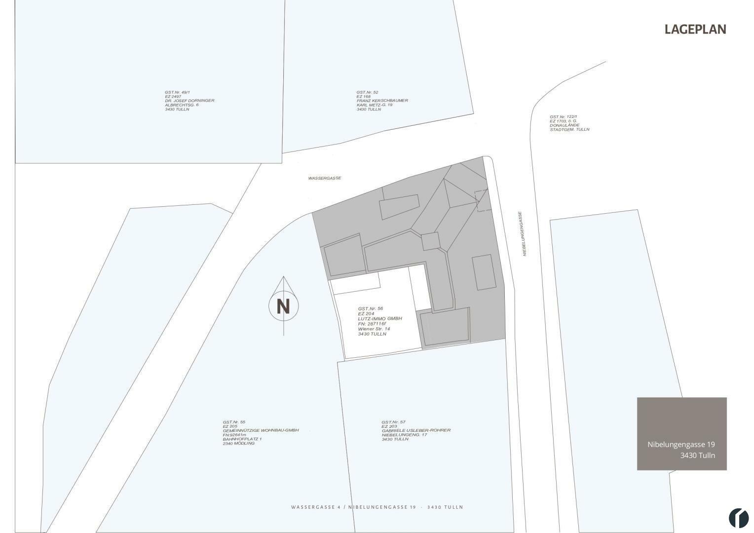 Lageplan Gebäude