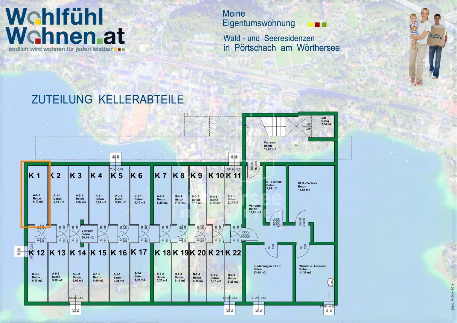 Kellergeschossplan