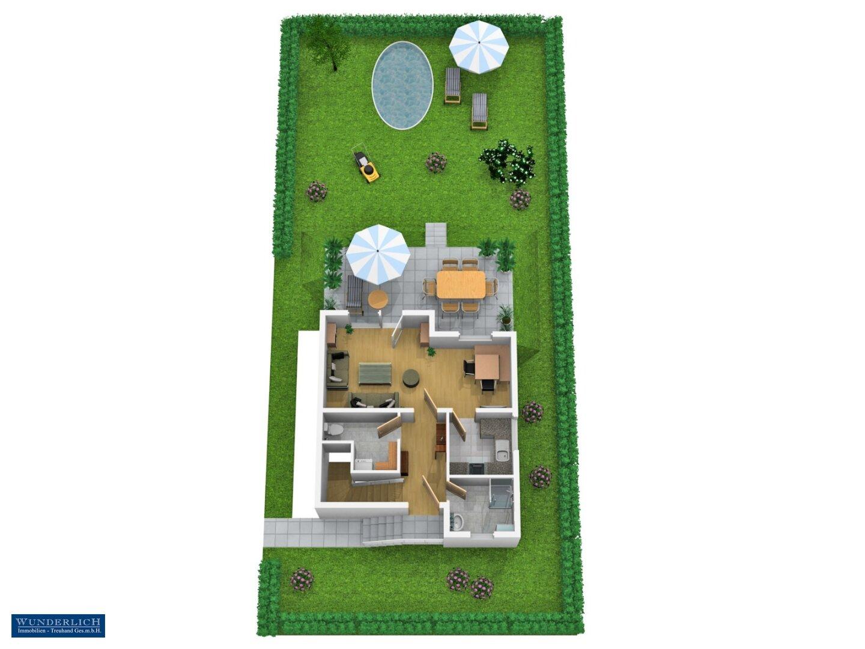 3D-Visualisierung 2 - Erdgeschoß