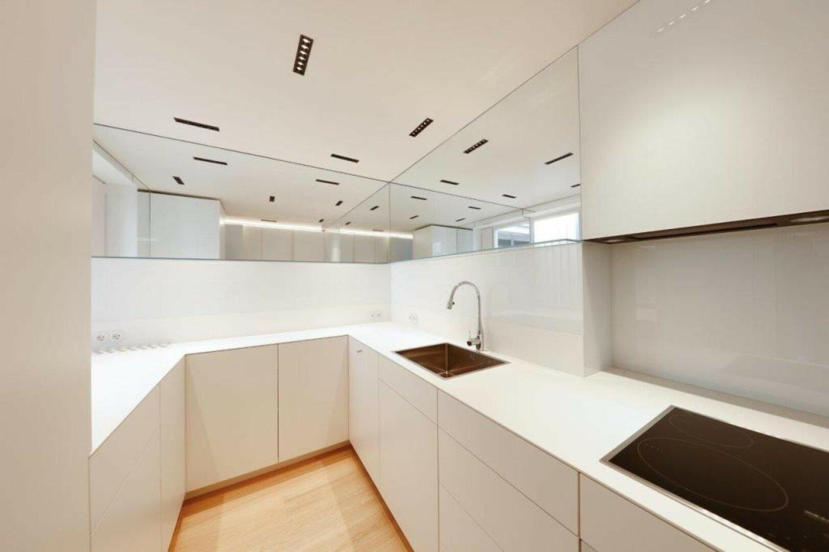 Moderne, stylische Küche mit Siemensgeräten