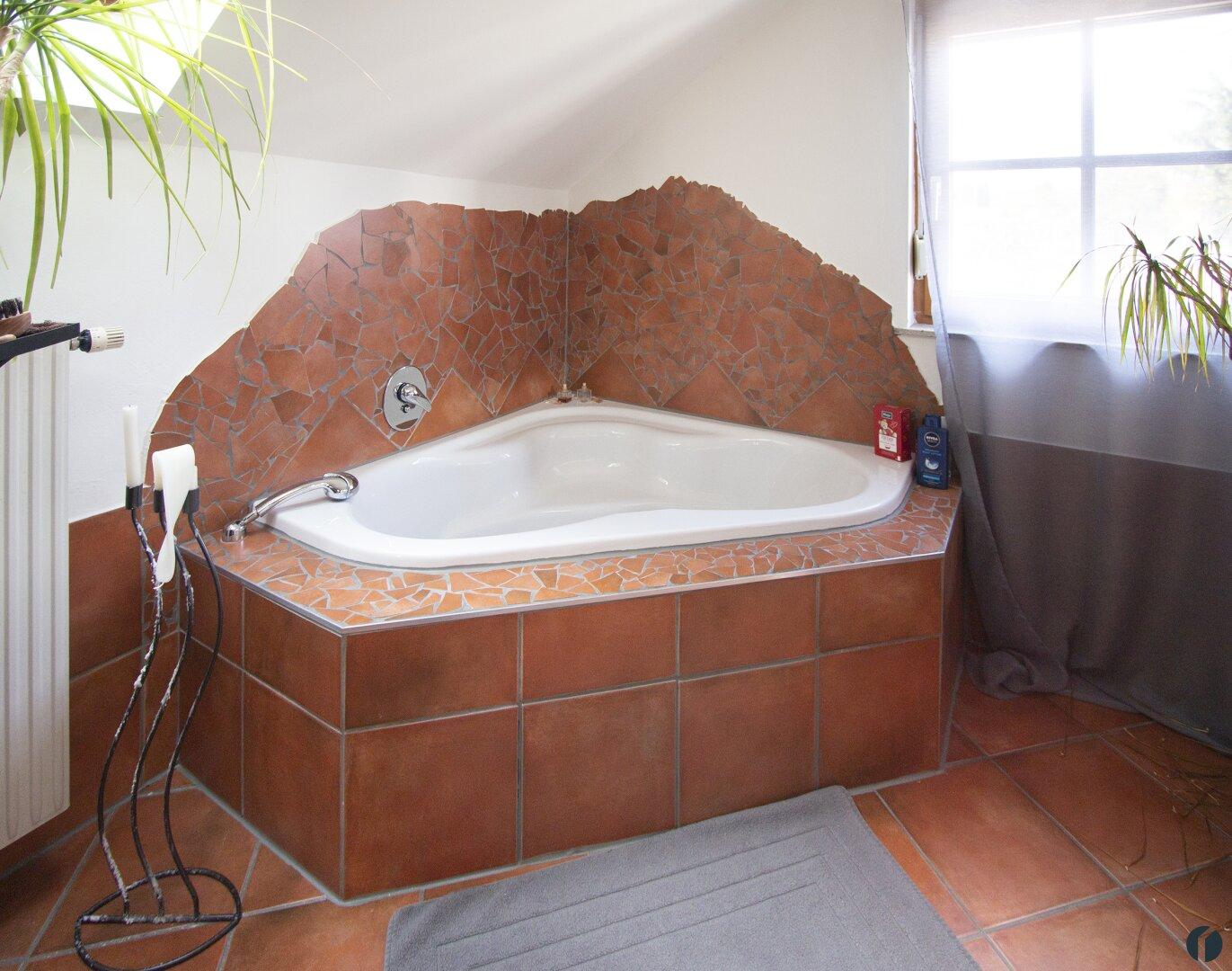 große Eck-Badewanne