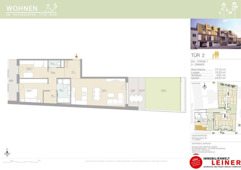 Erstbezug, 3-Zimmer-Gartenwohnung ab NUR € 1.071,- pro Monat Objekt_12016 Bild_110