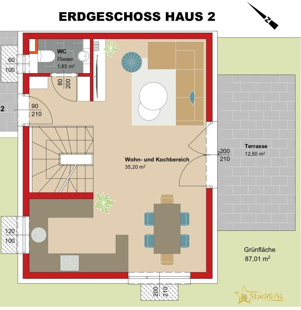 ERDGESCHOSS Haus 2