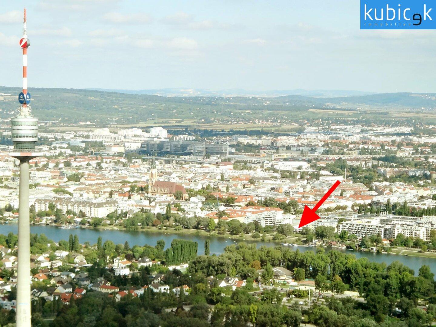 Bauplatz direkt an der Alten Donau