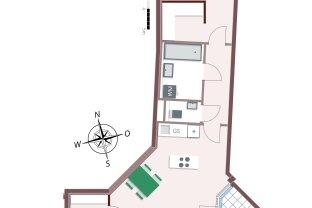 812 – 2-Zimmer-Wohnung mit Terrasse und viel Stauraum