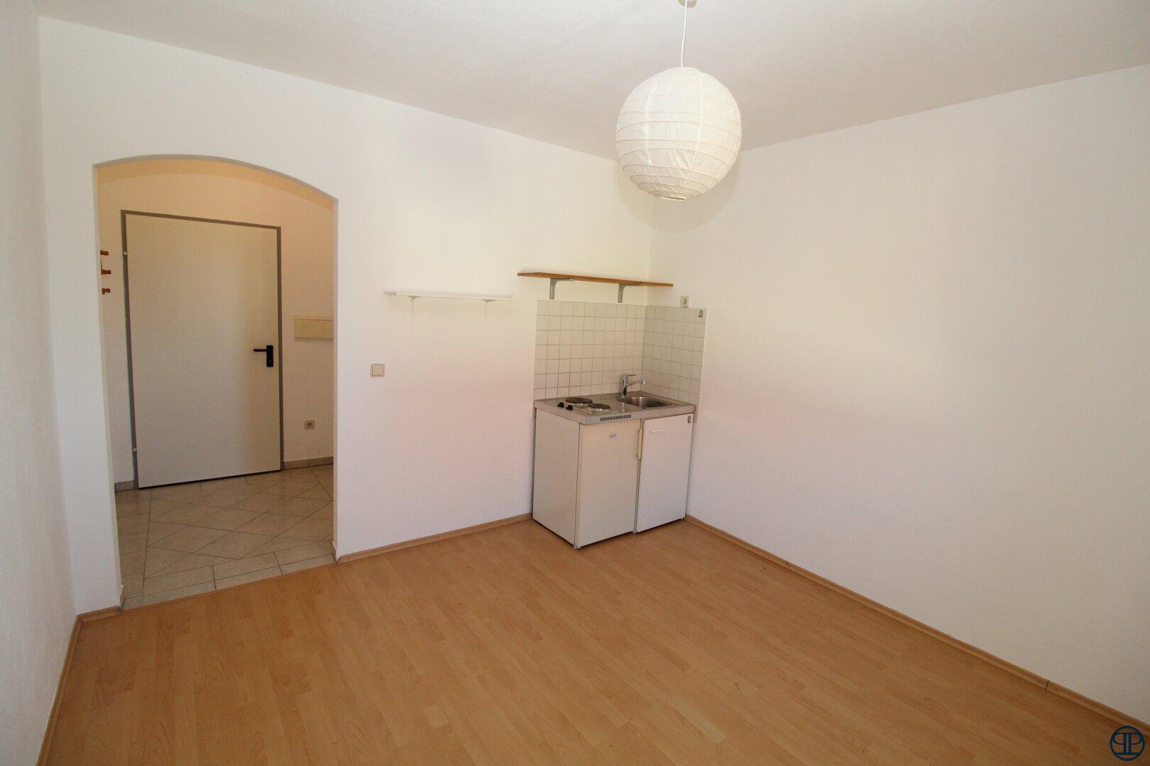 Blick zum Küchenbereich