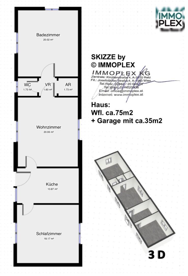 Grundriss-Skizze (c) by IMMOPLEX