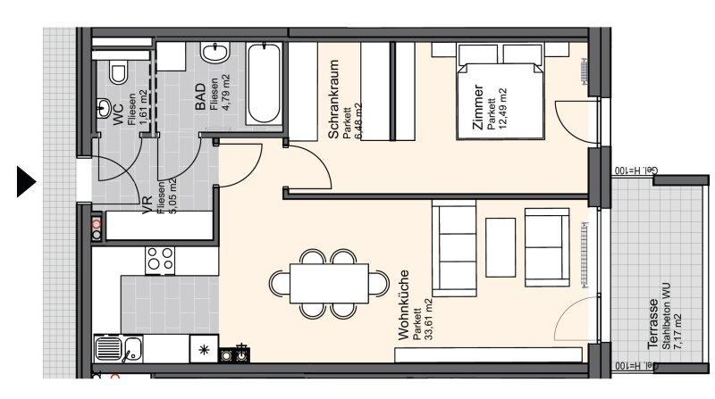 Sonnige Eigentumswohnung nahe Zentrum von Deutsch-Wagram - Top 16 /  / 2232Deutsch-Wagram / Bild 1