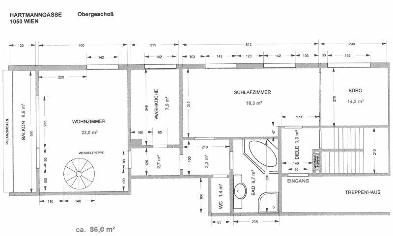 Großzügige Maisonettewohnung /  / 1050Wien / Bild 10