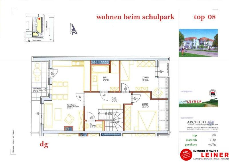 ACHTUNG KAUFANBOT LIEGT VOR!!! Schwechat - Rannersdorf:  sonniges Dachjuwel - 3 Zimmer Loft - Penthouse vom feinsten! Objekt_9361 Bild_561
